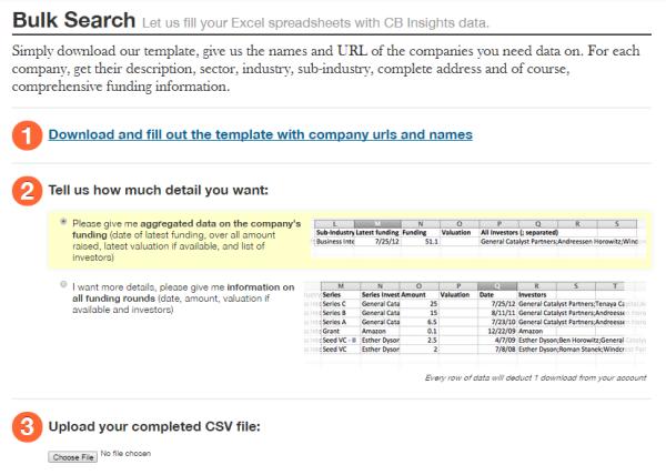 cb insights bulk search