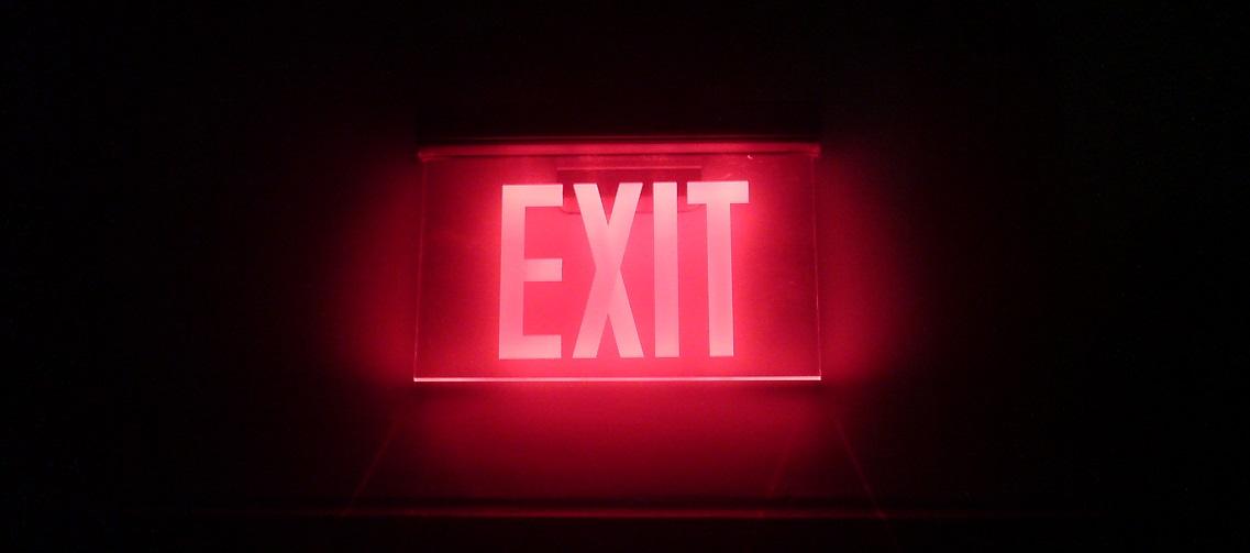 exit sign header
