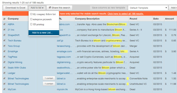 quant VC - create a list
