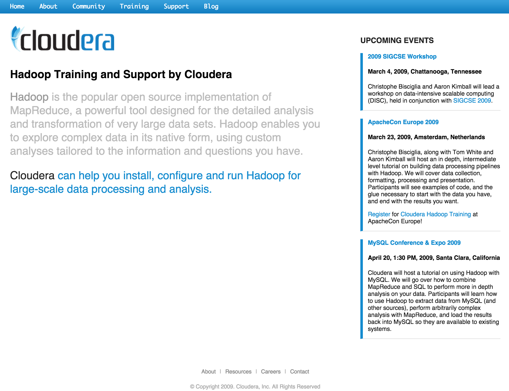 cloudera website