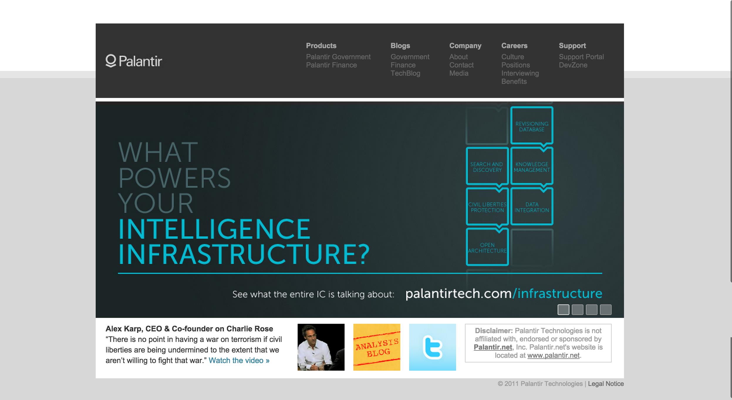palantir website