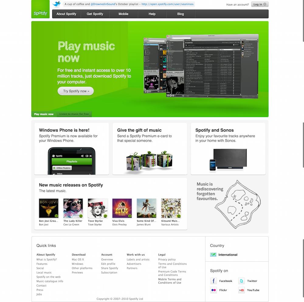 Spotify Nov 2010