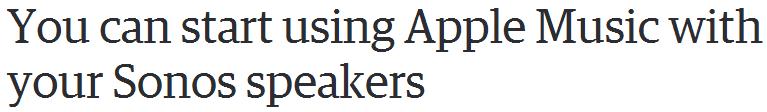 Sonos headline