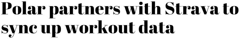 Strava headline