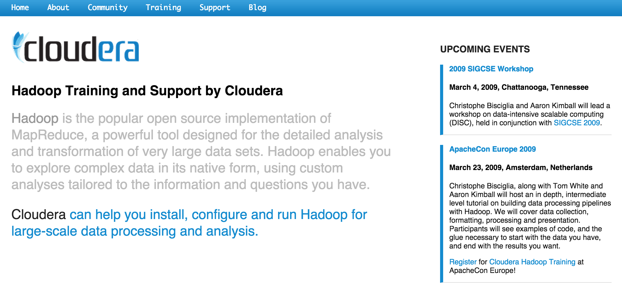 Cloudera-Feb-2009