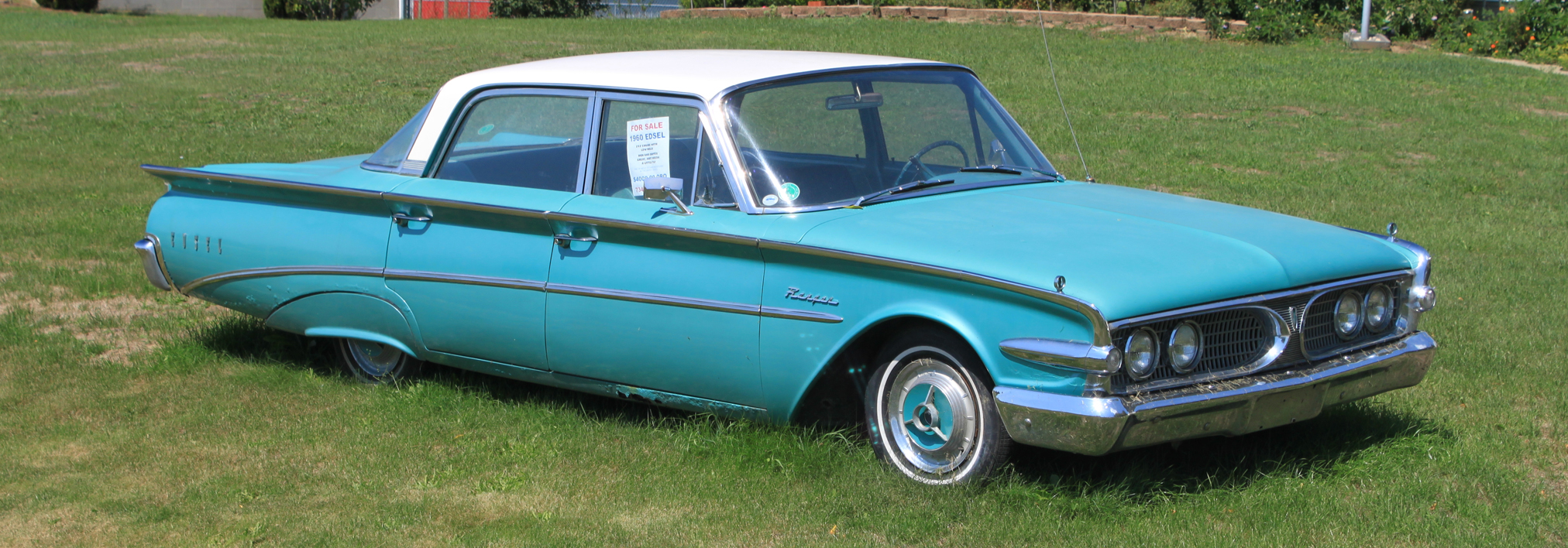 Blue Ford Edsel