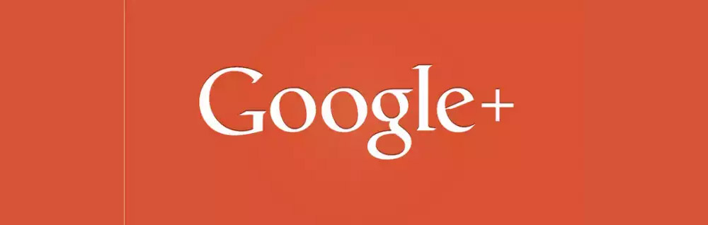 Google Plus Logo on red background
