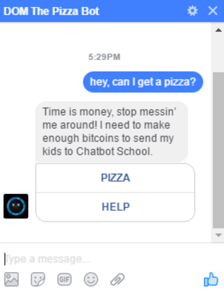 Domino's Pizza Bot