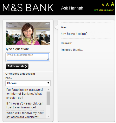 M&S Bank Chatbot