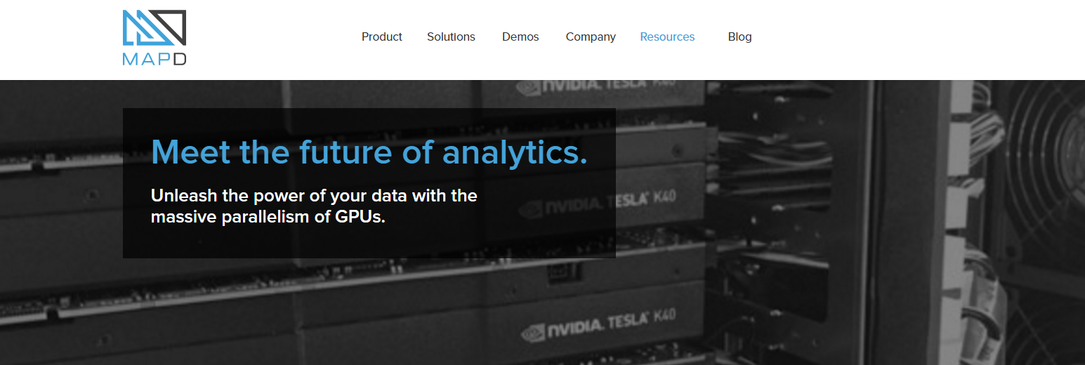 MapD: The World's Fastest GPU Database And Visual Analytics Platform