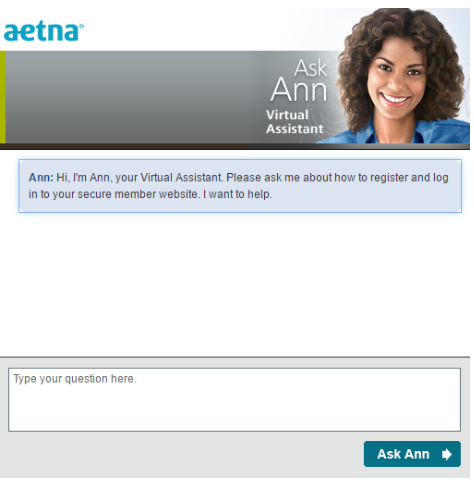Image of Ann from Aetna chatting