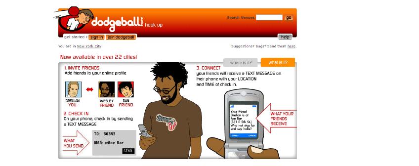 dodgeball homepage