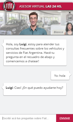 Fiat Chatbot Conversation
