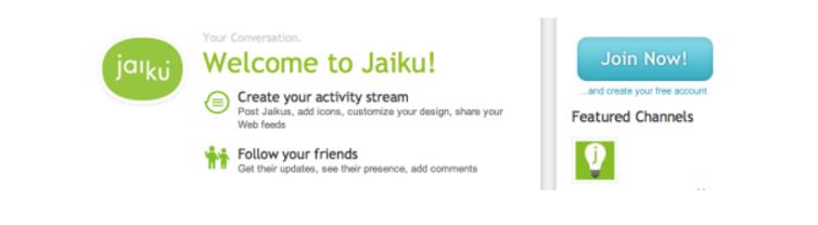 jaiku homepage