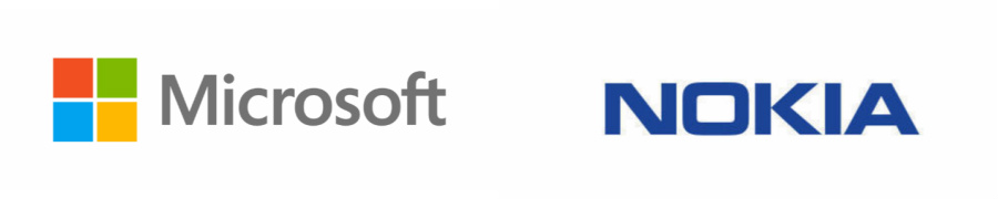 microsoft and nokia logos