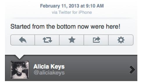 Tweet by Alicia Keys