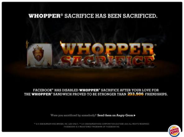 burger king whopper betrayal image