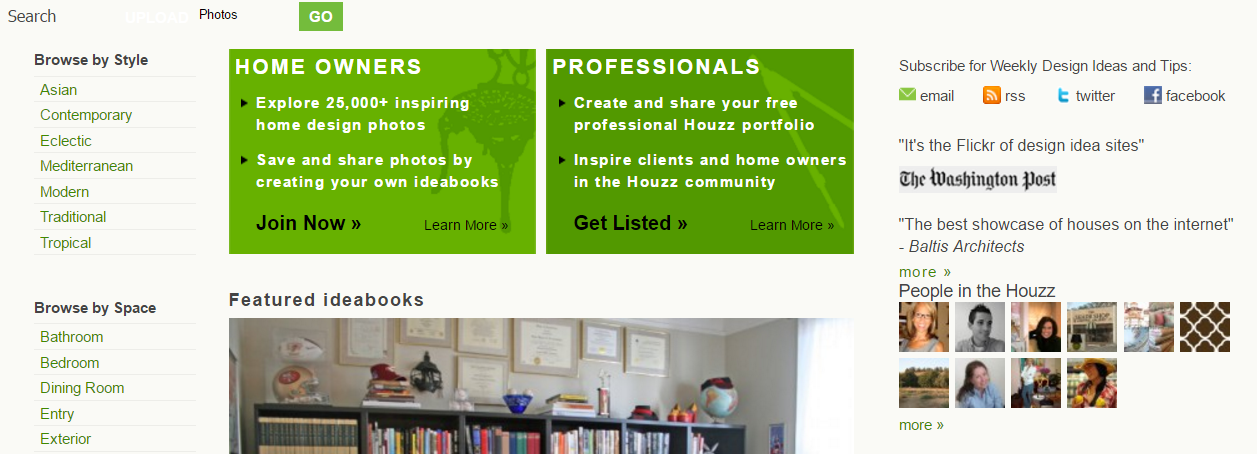 Houzz website  2010