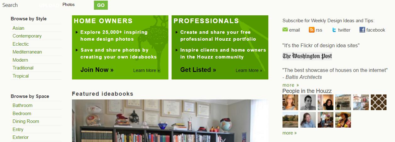 Houzz website 2010