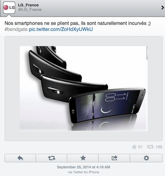 LG Tweet in French