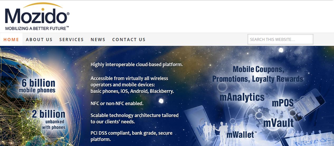 Mozido homepage 2013