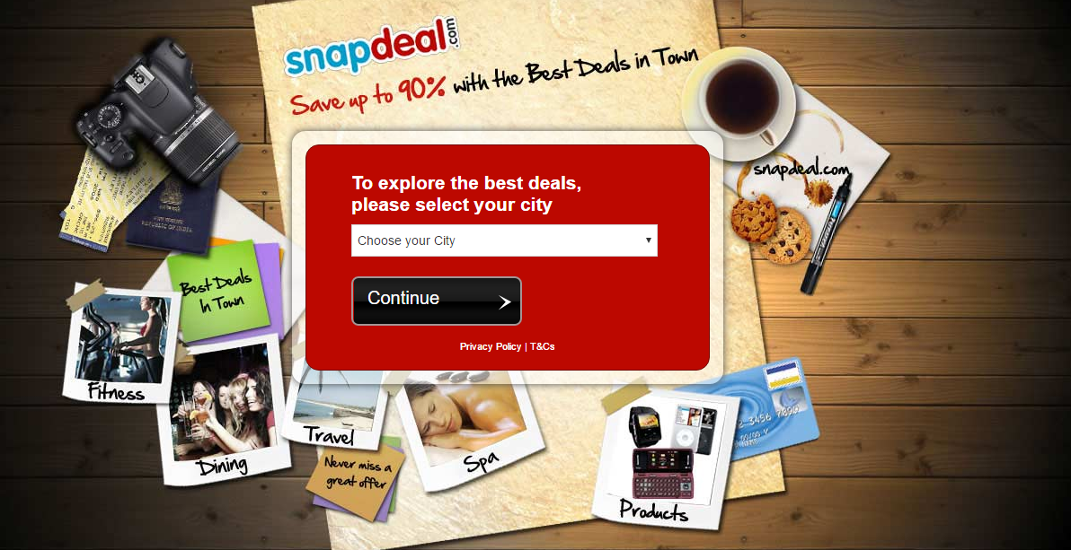 snapdeal homepage 2012