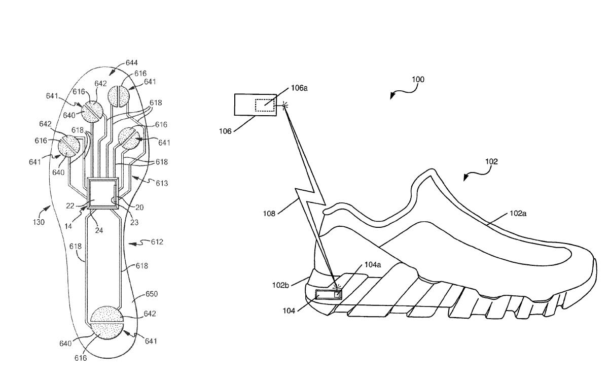 Footwear sensor system Nike