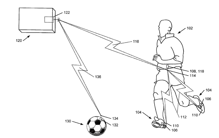 Nike patent athletic performance monitoring team sports