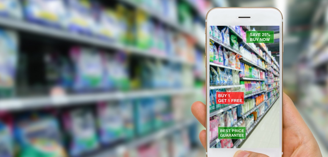 Application of Augmented Reality in Retail Business Concept