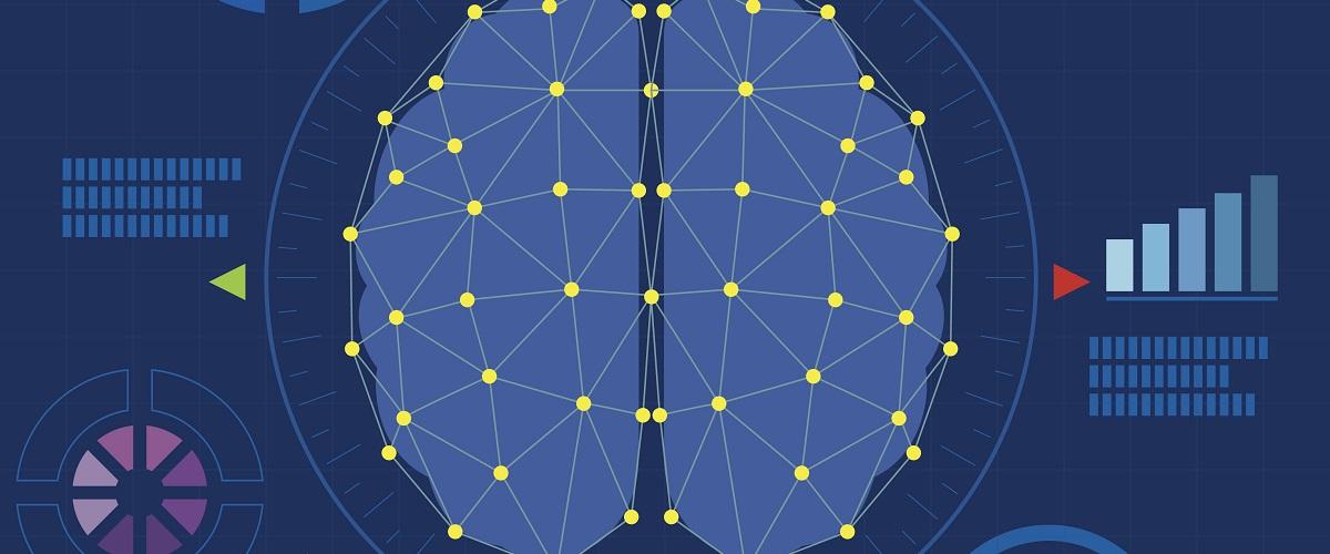 brain digital technology idea background vector