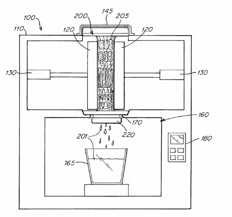 Juicero juicer patent pic