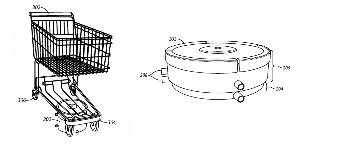 Shopping cart robot wmt patent