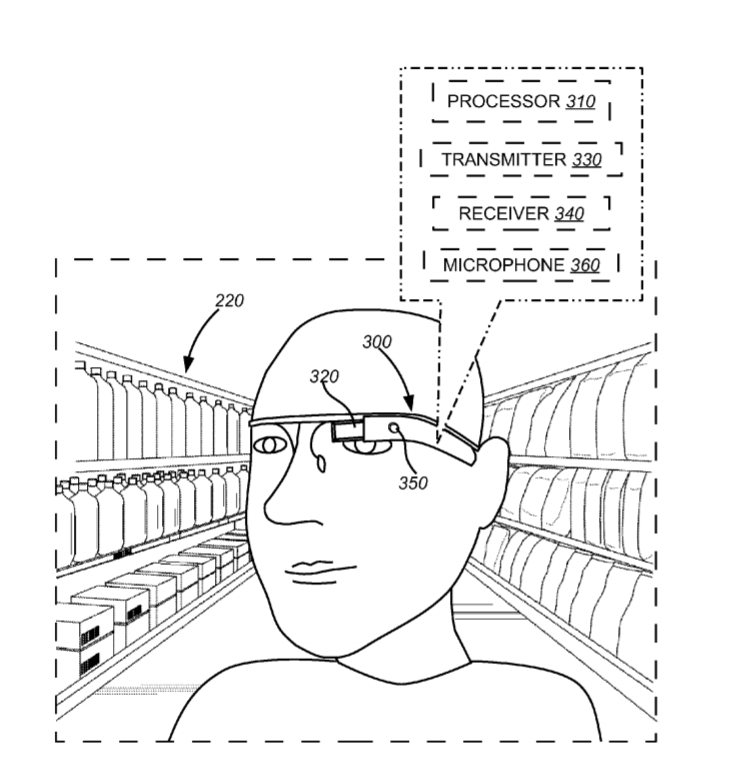 Walmart machine vision navigation patent
