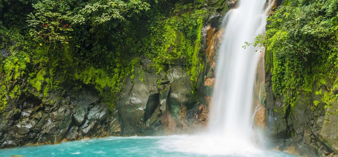 Costa Rica Nature Background Travel Destinations Rio Celeste