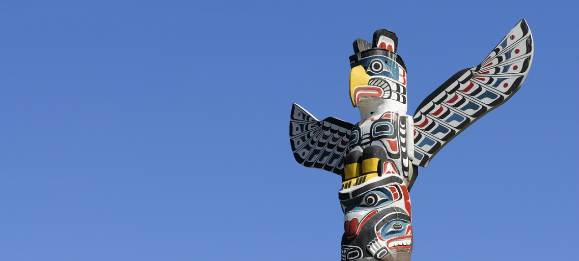 Totem Pole in Vancouver, BC, Canada