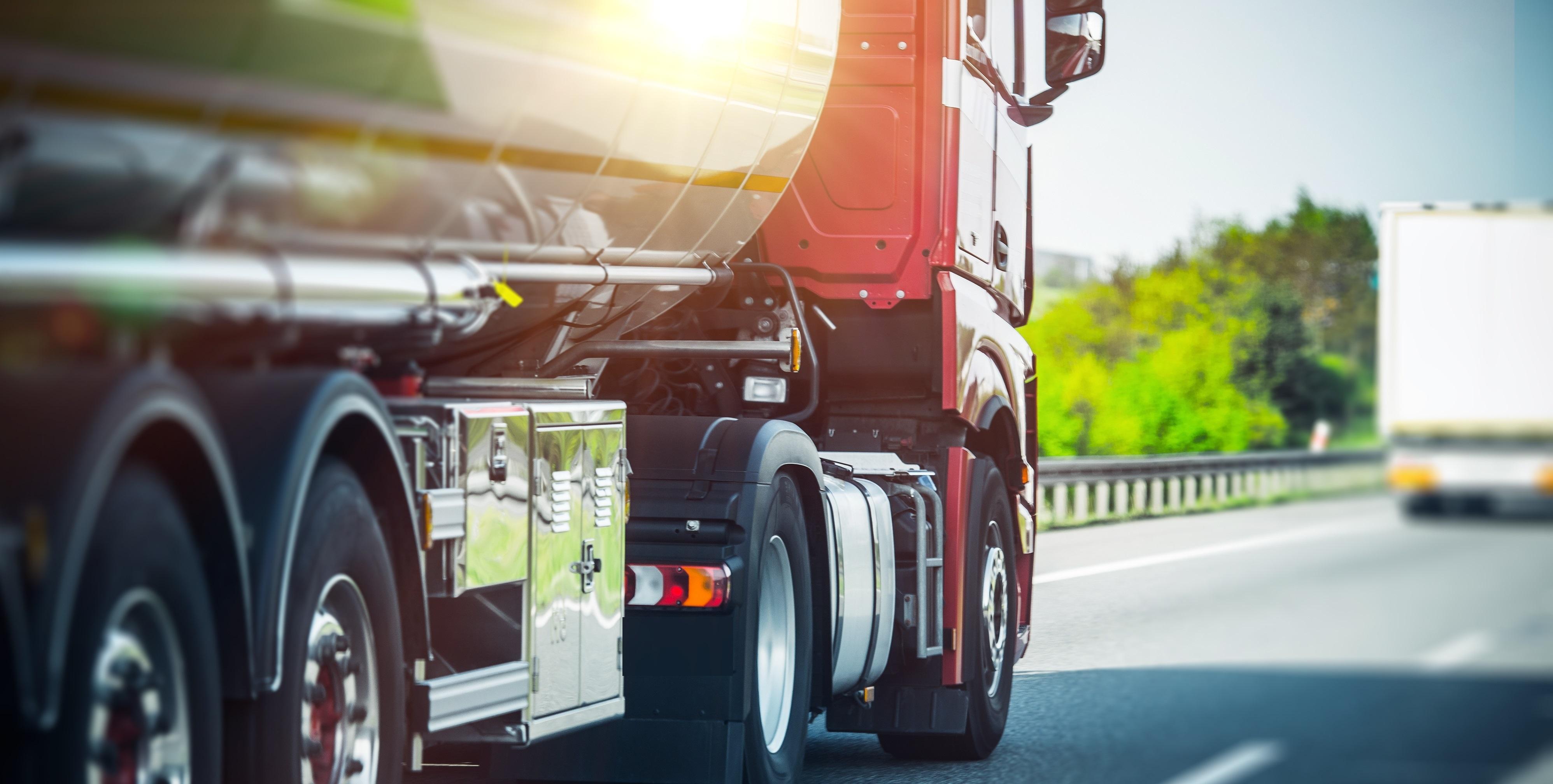 Euro Semi Truck on Highway
